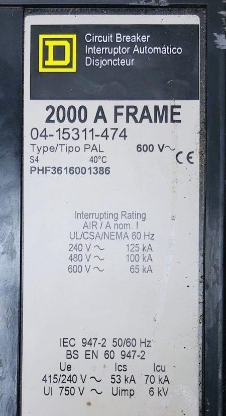 Square D PHF3616001386-GL