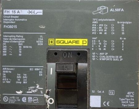 Square D FH36015-CL