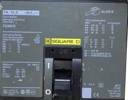 Square D FA36015-CL
