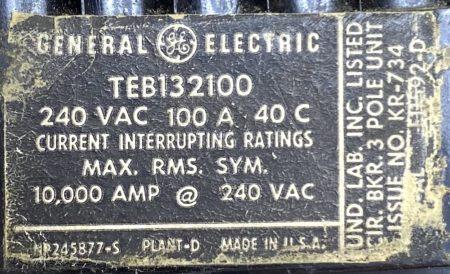 General Electric TEB132100-BF