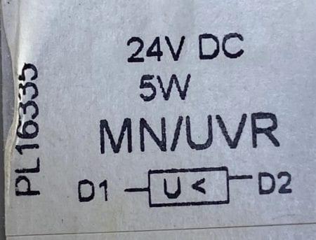 Square D MN/UVR-24