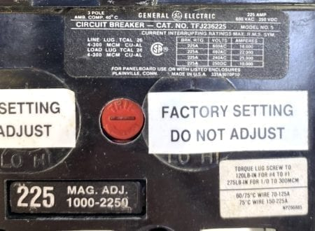 General Electric TFJ236225-ST-AUX