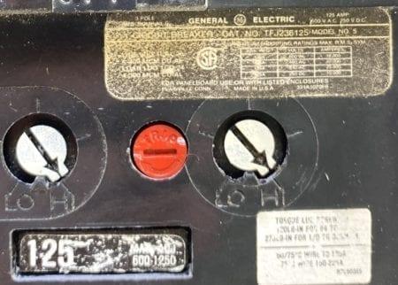 General Electric TFJ236125-BF-UV-BA-125