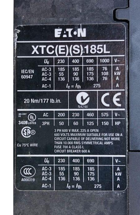 Eaton XTCE185L
