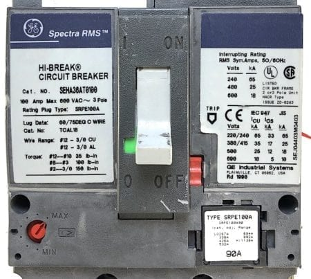 General Electric SEHA36AT0100-90-AUX