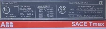 ABB T4N250-250-ST