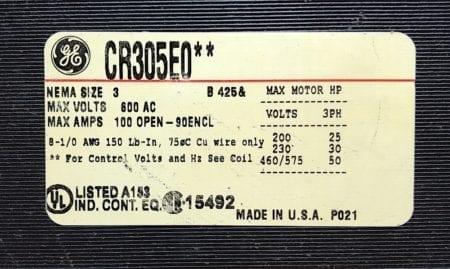 General Electric CR305E0-120