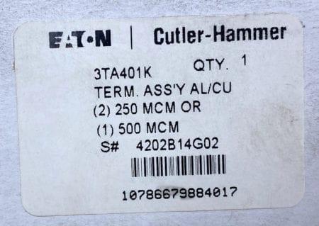 Culter Hammer 3TA401K-NIB