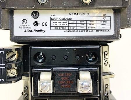Allen Bradley 500F-COD930-120