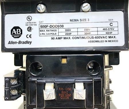 Allen Bradley 500F-DOD930-120