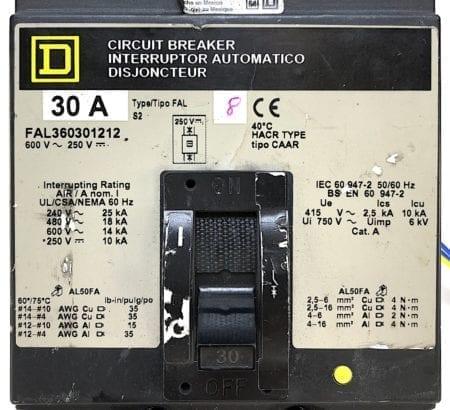 Square D FAL360301212-GL