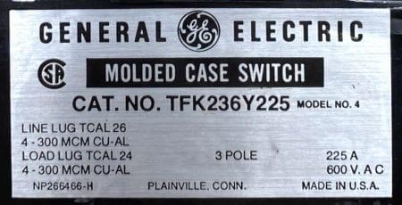 General Electric TFK236Y225-ST-AUX-BF