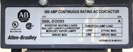 Allen Bradley 500L-EOD93-120