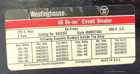 Westinghouse KA3225F-150