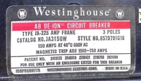 Westinghouse JA3150W-150