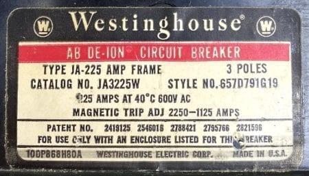 Westinghouse JA3225W-150