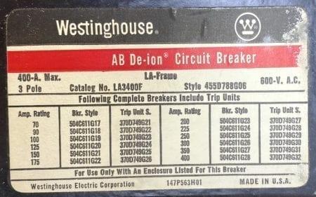 Westinghouse LA3400F-350