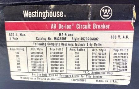 Westinghouse MA3800F-450
