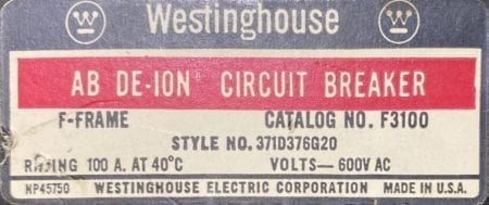 Westinghouse F3100