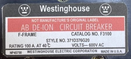 Westinghouse F3100-NML