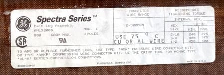 General Electric AML3800D