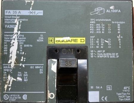 Square D FA36035-CL