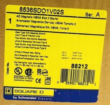 Square D 8536SDO1V02S-120