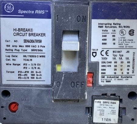 General Electric SEHA36AT0150-110-UV