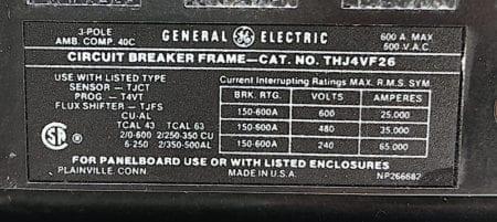 General Electric THJ4VF26-400