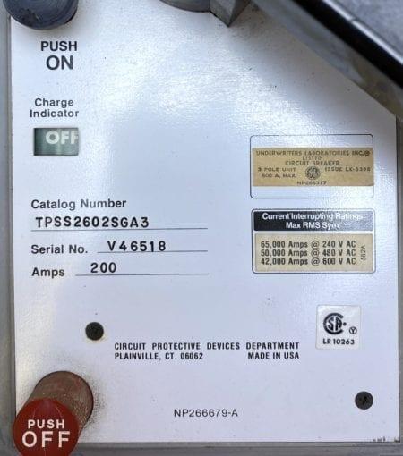 General Electric TPSS2602SGA3
