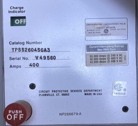 General Electric TPSS2604SGA3