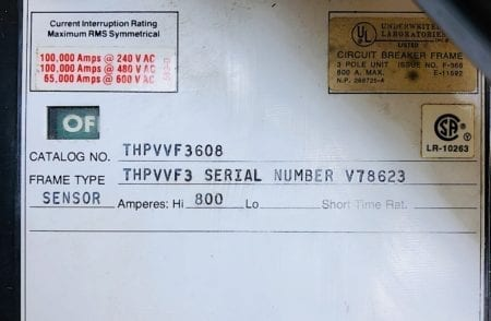General Electric THPVVF3608