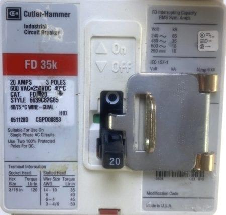 Cutler Hammer FD3020-RL