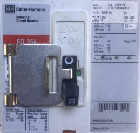Cutler Hammer FD3020-RL-AUX