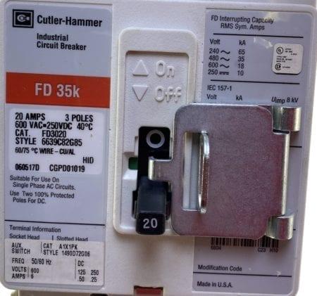 Cutler Hammer FD3020-AUX