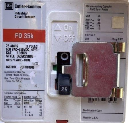 Cutler Hammer FD3025-RL
