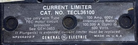 General Electric TECL36100