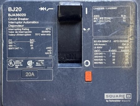 Square D BJA36020