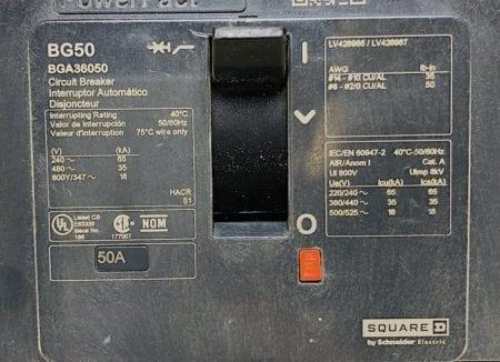 Square D BGA36050