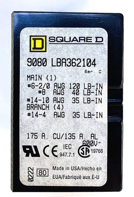Square D LBA362104