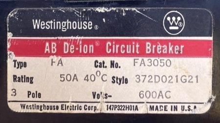 Westinghouse FA3050