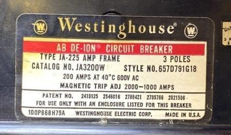 Westinghouse JA3200W