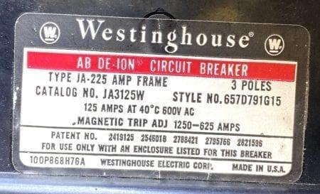Westinghouse JA3125W