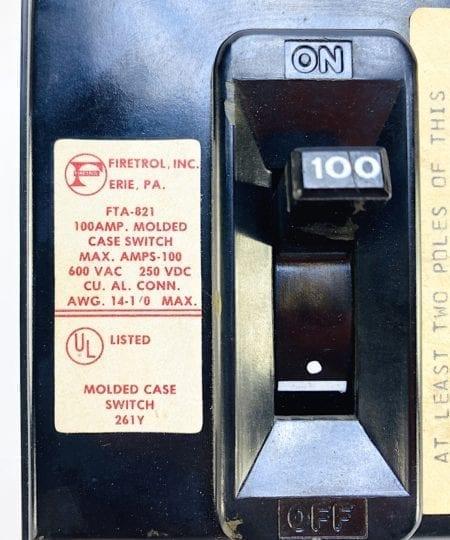 Firetrol FTA-821