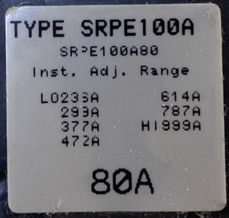 General Electric SRPE100A80