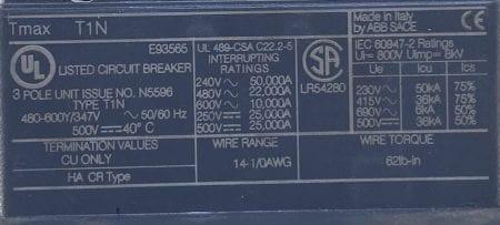 ABB T1N025-ST