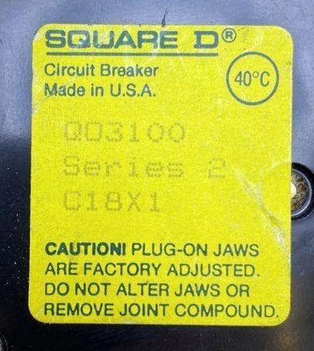 Square D QO3100