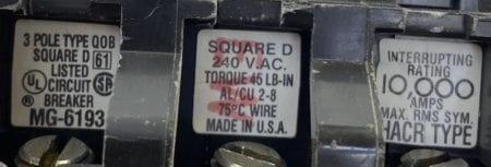 Square D QOB360