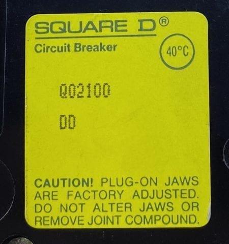 Square D QO2100