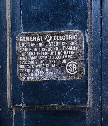 General Electric THQB22060